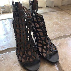 Grey sexy heels